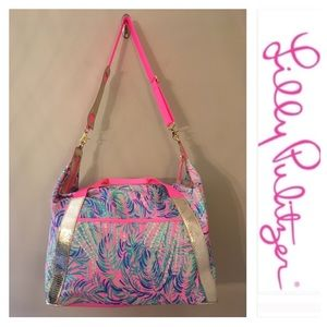 Lilly Pulitzer Sunseekers Travel Tote Pink Sunset